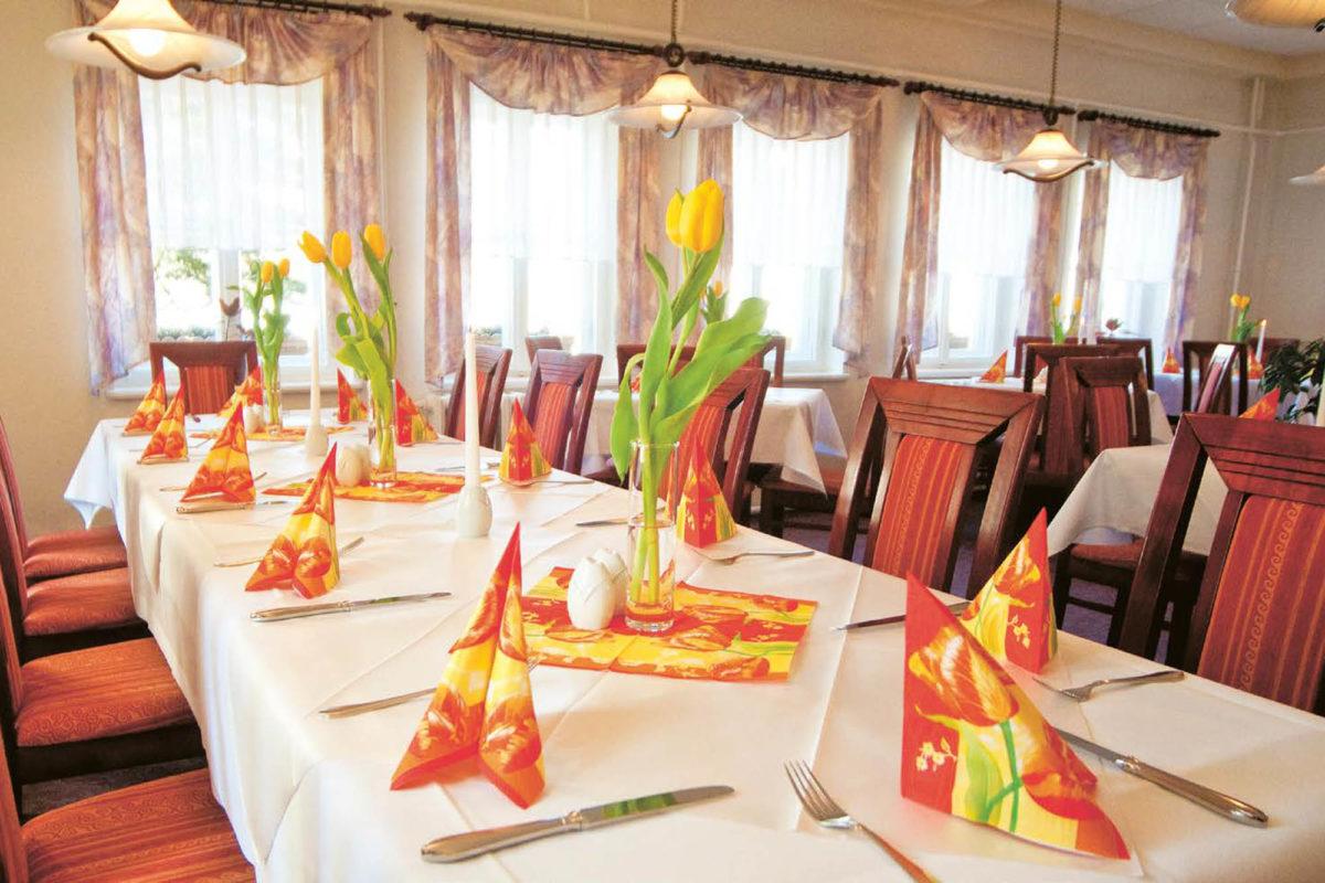 Frühling im Restaurant